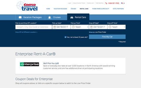 Enterprise Rent-A-Car? at Costco Travel