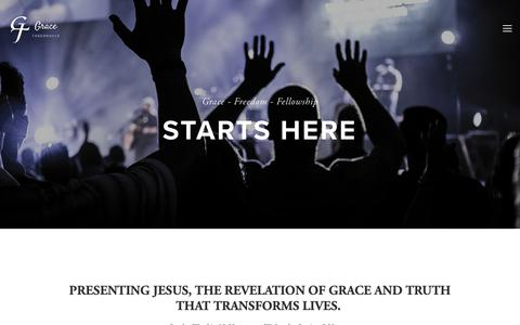 Screenshot of Home Page gracetab.org - Grace Tabernacle - captured Sept. 30, 2018