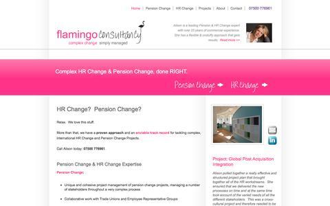 Screenshot of Home Page flamingoconsultancy.co.uk - HR Change & Pension Change | Flamingo Consultancy - captured June 5, 2017
