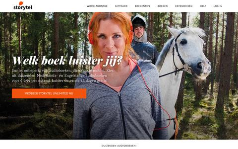 Screenshot of Home Page storytel.nl - Storytel - Audioboeken op je mobiel - captured June 18, 2015