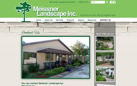 Screenshot of Contact Page meissnerlandscape.com - Contact Us | Meissner Landscape, Inc. - captured Oct. 27, 2014