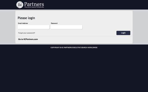 IIC Partners Executive Search Worldwide Login