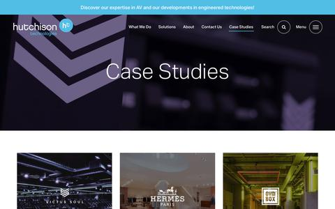 Screenshot of Case Studies Page hutchison-t.com - case studies | Hutchison Technologies - captured Sept. 3, 2019