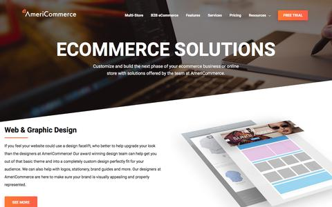 Screenshot of Services Page americommerce.com - Ecommerce Solutions | Powerful Ecommerce Platform Solution - captured July 29, 2018