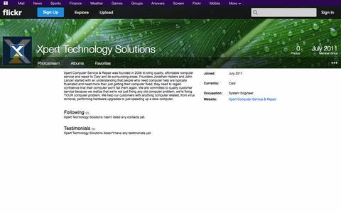 Screenshot of Flickr Page flickr.com - Flickr: Xpert Technology Solutions - captured Oct. 26, 2014