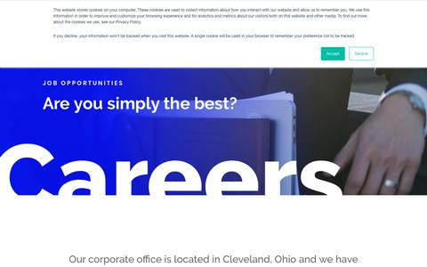Screenshot of Jobs Page emscorporate.com - Merchant Credit Card Processing Jobs & Careers | Merchant Service Employment - captured Feb. 14, 2019