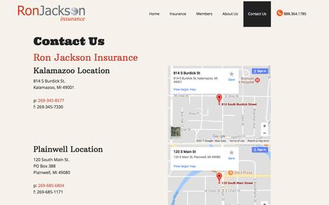 Contact Us – Ron Jackson Insurance Agency