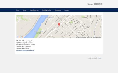 Screenshot of Maps & Directions Page musillosales.com - Directions - Musillo Sales Agency, Inc. - captured Feb. 15, 2016