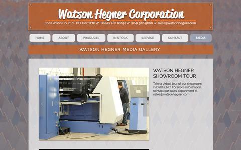 Screenshot of Press Page watsonhegner.com - watsonhegner | MEDIA - captured Dec. 17, 2016