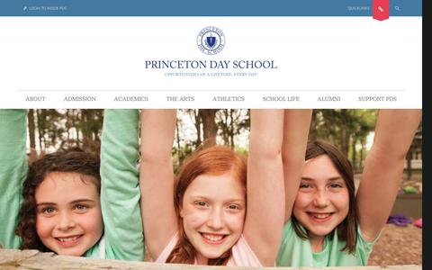 Screenshot of Home Page pds.org - Princeton Day School - Home - captured Oct. 20, 2015