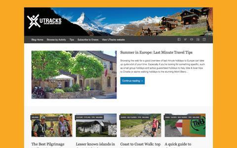 Screenshot of Blog utracks.com - UTracks | Explore Europe Your Way - captured Sept. 20, 2018