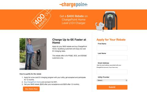 Screenshot of Landing Page chargepoint.com - ChargePoint - captured March 9, 2017