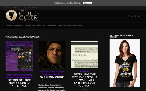 Screenshot of Products Page thegoldqueen.com - Products | Warcraft Gold Queen Guides - captured Nov. 11, 2016