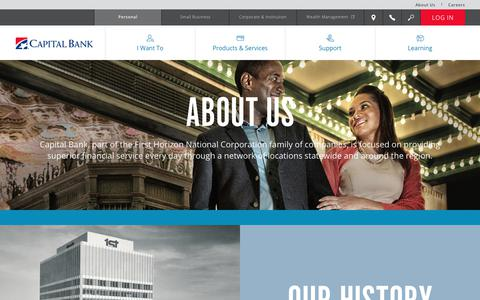 Screenshot of About Page capitalbank-us.com - About Us - Capital Bank - captured Sept. 24, 2018