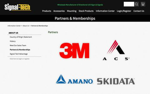 Partners & Memberships | About Us | Signal-Tech
