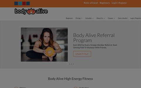 Screenshot of Home Page bodyalive.buzz captured Jan. 10, 2016