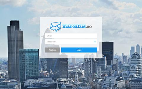 Screenshot of Login Page marcatus.co - Marcatus - Combined CRM & Marketing Software for Small Businesses - captured Sept. 30, 2014