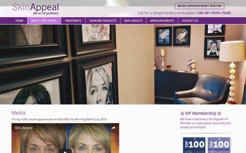 Screenshot of Press Page myskinappeal.com - Media   Skin Appeal, Medical Skin Care in Tucson - captured Nov. 19, 2016