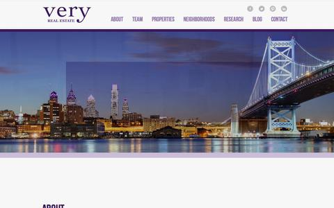 Screenshot of Home Page veryre.com - Very Real Estate | Philadelphia Real Estate Firm - captured Jan. 26, 2015