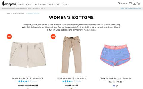 Women's Bottoms                      – Cotopaxi