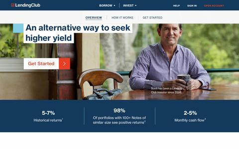 Screenshot of lendingclub.com - Alternative Investments: Invest in Notes    | Lending Club - captured May 9, 2017