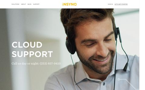 Screenshot of Support Page insynq.com - Support Archive   - captured Aug. 31, 2016