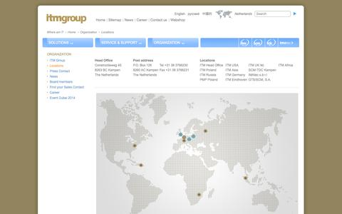 Screenshot of Locations Page itmgroup.eu captured Oct. 10, 2014