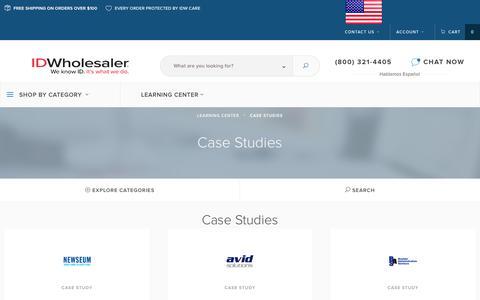 Screenshot of Case Studies Page idwholesaler.com - Case Studies   ID Wholesaler Learning Center - captured May 17, 2017