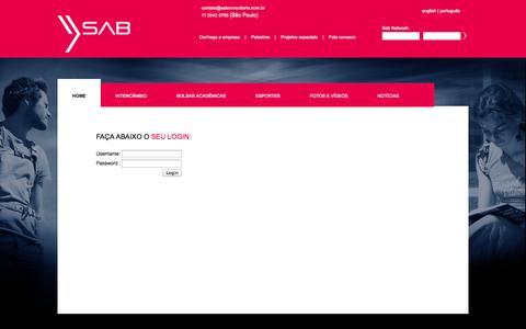 Screenshot of Login Page sabconsultoria.com.br captured Sept. 30, 2014