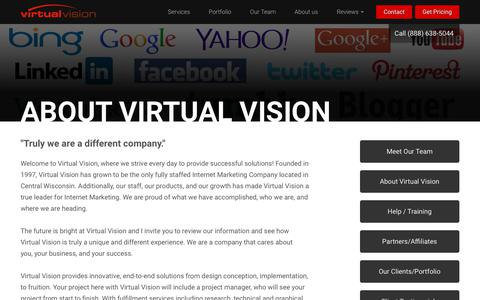 Screenshot of About Page virtualvision.com - Virtual Vision Computing an Internet Marketing Company, Website Design Company - captured Oct. 20, 2018