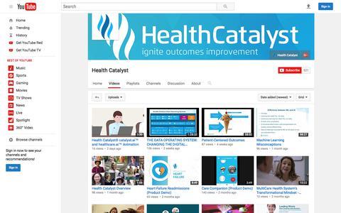 Health Catalyst  - YouTube