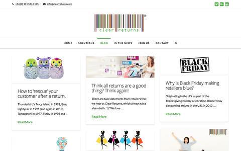 Blog | Clear Returns