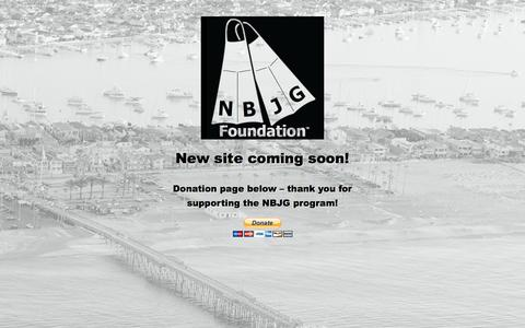 Screenshot of Home Page nbjgfoundation.org - Newport Beach Jounior Guard foundation - captured Feb. 13, 2016