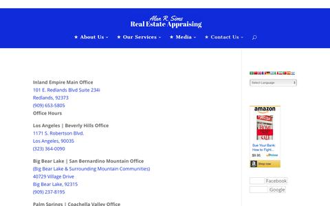 ★Office Locations - Alan R. Sims Real Estate Appraising