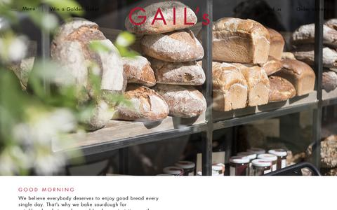 Screenshot of About Page gailsbread.co.uk - About Us | GAIL's Bakery - captured July 7, 2018