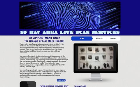 Screenshot of Home Page sfbayarealivescan.com - SF BAY AREA LIVE SCAN - captured Nov. 17, 2016