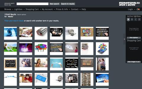 Screenshot of Press Page shotshop.com - Stock Photography Shotshop.com | Royalty-Free Search: media - captured Sept. 19, 2014