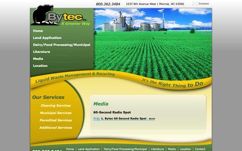 Screenshot of Press Page bytecresourcemanagement.com - Media | Bytec Resource Management, Inc. - captured Oct. 5, 2014