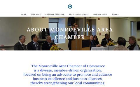 Screenshot of About Page monroevillechamber.com - About Us | Monroeville Area Chamber of Commerce | Monroeville, PA 15146 - Monroeville Area Chamber of Commerce | Monroeville, PA 15146 - captured Dec. 4, 2018