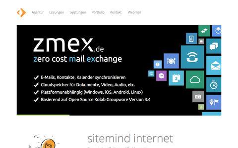 Screenshot of Home Page sitemind.de - TYPO3. mobile Web. Magento. Marketing. : sitemind medien Agentur - captured June 11, 2016