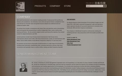 Screenshot of About Page millcreekent.com - Mill Creek Entertainment: Company - captured Sept. 23, 2014