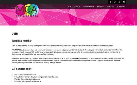 Screenshot of Signup Page mcasantabarbara.org - JOIN – MCASB - captured Dec. 2, 2016