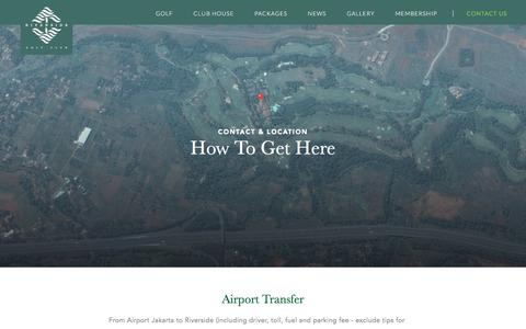 Screenshot of Contact Page riverside-golf.com - Riverside Golf - captured June 13, 2016