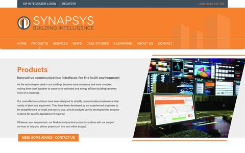 Screenshot of Products Page synapsys-solutions.com - Products | Synapsys Solutions - captured Oct. 19, 2018