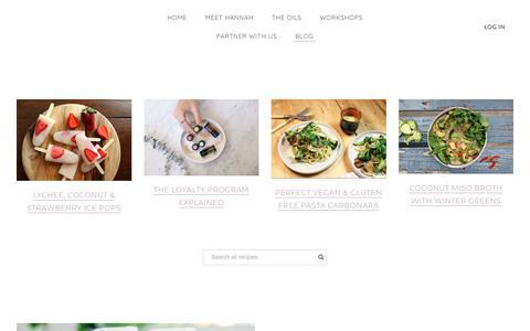 Screenshot of Blog hanahorton.com - Recipes - captured Nov. 22, 2018
