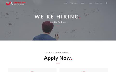Screenshot of Jobs Page dealerauthority.com - Careers - Dealer Authority - captured June 4, 2017