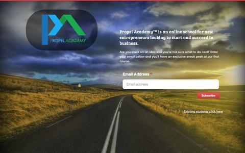 Screenshot of Home Page propel.academy - Propel Academy - captured Oct. 3, 2014
