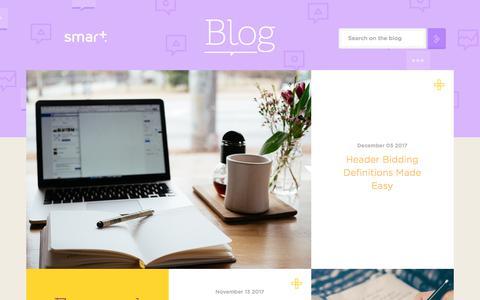 Screenshot of Blog smartadserver.com - Smart AdServer Blog Homepage - captured Dec. 14, 2017