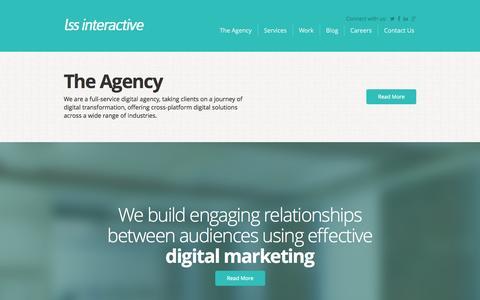 Screenshot of Home Page lssinteractive.com - Digital Marketing, Web Design Preston - LSS Interactive - captured Sept. 26, 2014