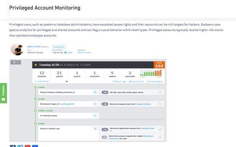 Privileged Account Monitoring | Exabeam : Exabeam